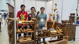 Indonesia Wood Craft in Busan International Tea & Craft Fair 2017
