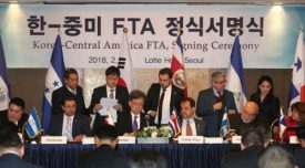 Korea signs FTA with five Central American nations