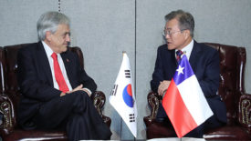 Leaders of Korea, Chile agree to improve ties, boost trade